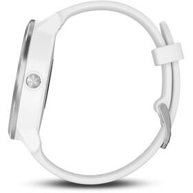 Garmin vívoactive 3 'med hvidt silikonearmbånd' sølv